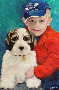 Child and pet portrait